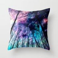 Throw Pillow featuring Black Trees Colorful Spa… by 2sweet4words Designs