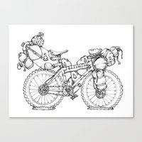Bikepacking Canvas Print