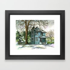 The House Under the Big Tree Framed Art Print