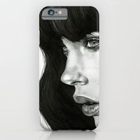 girl iPhone & iPod Cases featuring Girl by BlackNYX