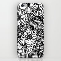 wavy inked floral iPhone & iPod Skin