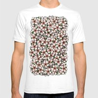 Cherry Blossom Mens Fitted Tee White SMALL