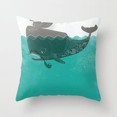 Belly of the Whale - Hipster Edition (with pirates) Throw Pillow
