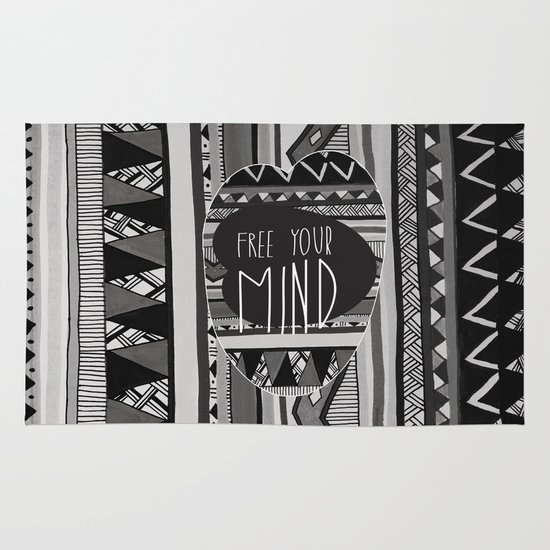 FREE YOUR MIND Area & Throw Rug