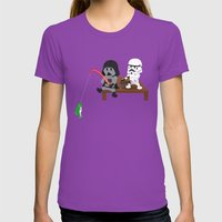 SW Kids - Darth Fishing Womens Fitted Tee Ultraviolet SMALL