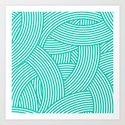 New Weave in Aqua Teal Art Print