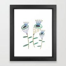 Plants, flowers, flower print, plant illustration, floral artwork, floral illustration,  Framed Art Print