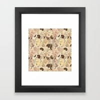 pattern Flowers Framed Art Print
