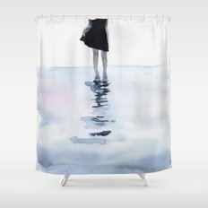 all around the sea Shower Curtain