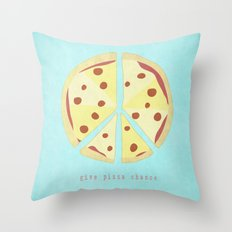 Give Pizza Chance Throw Pillow