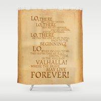 Viking Prayer Shower Curtain