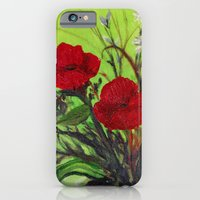 iPhone & iPod Case featuring Pickings of Poppies and a Pansy with a  POP of COLOR   by RokinRonda
