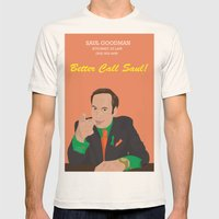 Better call them! Saul Goodman - Ari Gold Mens Fitted Tee Natural SMALL