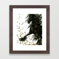 Autumn Friesian Framed Art Print