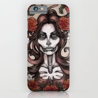 Blossoming Day of the Dead iPhone 6 Slim Case
