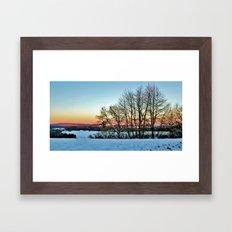 Colorful Winter Framed Art Print