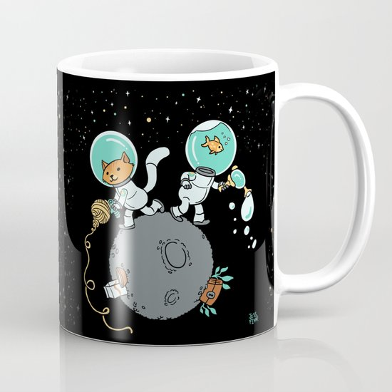 Space Kitty and Captain Fish Mug