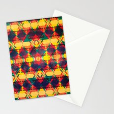 Green Abstract Diamond Stationery Cards