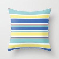 The Summer Stripes Throw Pillow