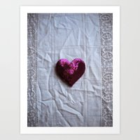 a history of i love you (valentine heart) Art Print