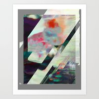 Water Lilies Interference Art Print