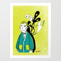 Everybody Has A Ghost Or… Art Print