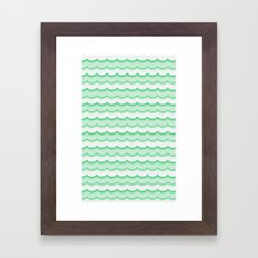 Green Waves Framed Art Print