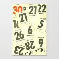 Canvas Print featuring CLOSEUPS - Calendar Shee… by Cordula Kerlikowski