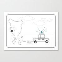 Ahoi, Bear - Kids Sketchbook Story 2 Canvas Print