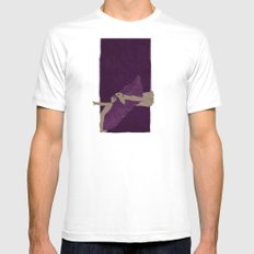 Journey SMALL White Mens Fitted Tee