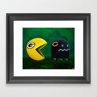Green Bay Packers Vs Chi… Framed Art Print