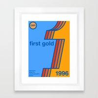first gold single hop Framed Art Print