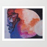 Man On The Moon (Revisit… Art Print
