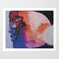 Man On The Moon (Revisit… Art Print