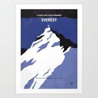 No492 My Everest minimal movie poster Art Print