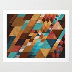 Geometric Positivity Art Print