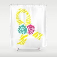 Endometriosis Ribbon 2 Shower Curtain