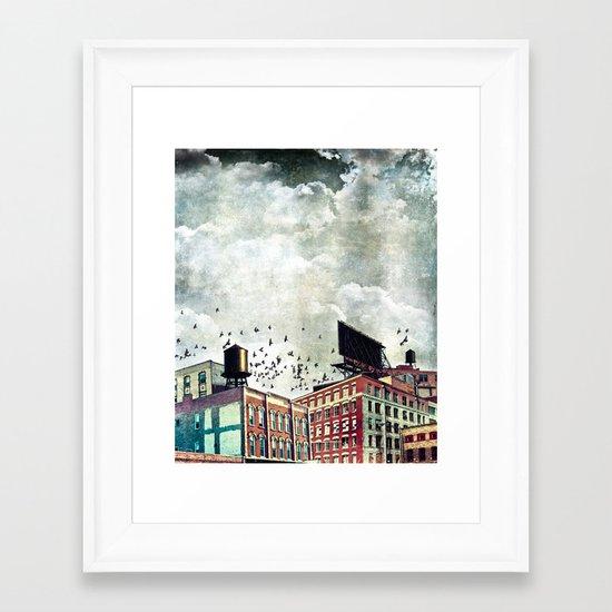 The Rooftop #5 Framed Art Print