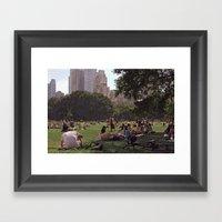 In My Paper City Framed Art Print