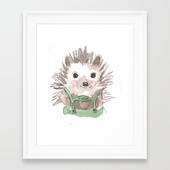 Hedgie Framed Art Print