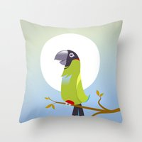 Nanday Conure Throw Pillow