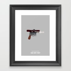 HAN SHOT FIRST (Star War… Framed Art Print