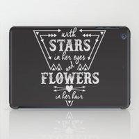 Stars in Her Eyes Flowers in Her Hair iPad Case