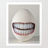 Dental Egg Art Print