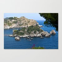Isola Bella Bay Of Taorm… Canvas Print