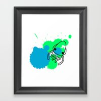 Calamar Framed Art Print
