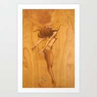 Kissing Mermaid Art Print