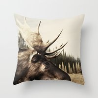 Tom Feiler Moose Throw Pillow