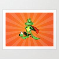 Superfrog - Digital Work Art Print