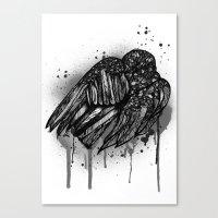 Ravens Sleep Canvas Print